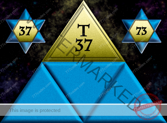 Triangle nr 37 on top of Triangle nr 73