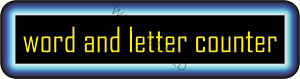 word and letter counter